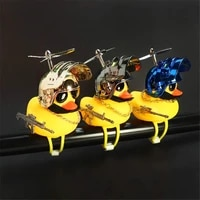 bike bell rubber ducky bicycle with helmet decoration with led light horn accessories propeller combat helmet for cycling