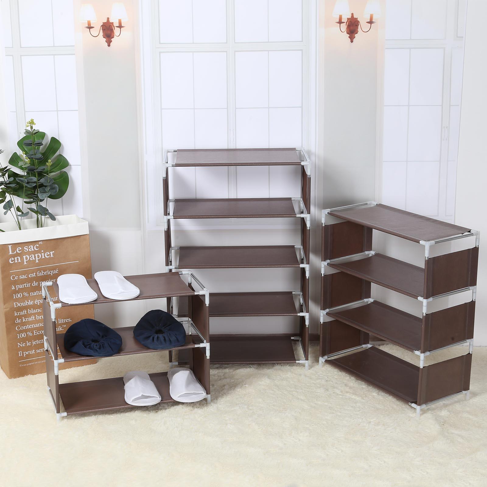 متعددة الوظائف 5 طبقات رف الأحذية بسيطة وضع رف الحذاء غرفة نوم الحديثة تخزين الصلبة حامل رفوف الأحذية المعيشة المنظم