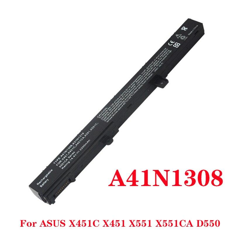 Bateria do portátil Para Asus X451 X451C X451CA X551 X551C X551CA D550M D550MA F551M X551MA A41N1308 A31N1319 Bateria