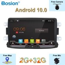 Autoradio Audio Android 10.0 1 din   Pour Duster/Logan/Dacia/Sandero/Captur/Lada/Xray 2/Logan, GPS multimédia 4 Core, Navi