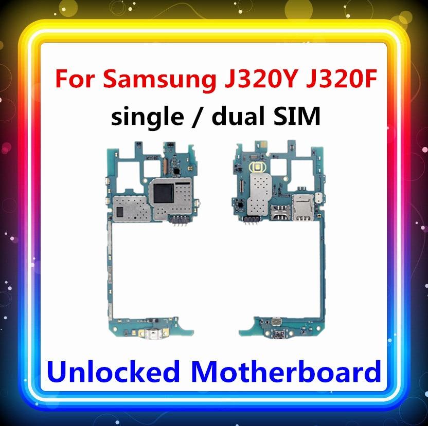 MB Für Samsung Galaxy J3 J320Y, j320F motherboard Original entsperrt logic board Android OS getestet mainboard karte (single/dual SIM)