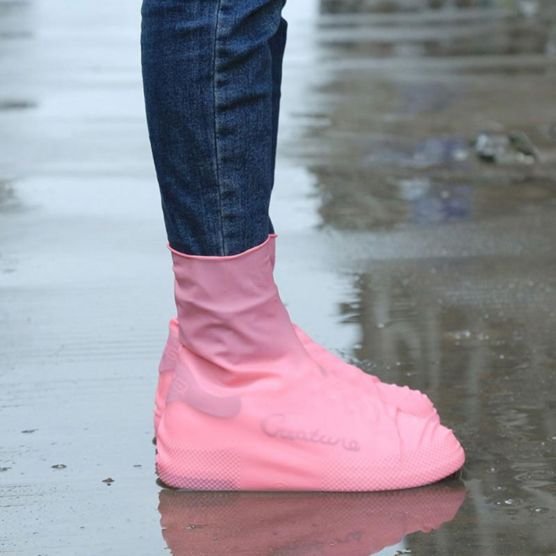 AliExpress - 2021New Rain Boots Waterproof Shoe Cover Silicone Unisex Outdoor Waterproof Non-Slip Non-slip Wear-Resistant Reusable Shoe Cover