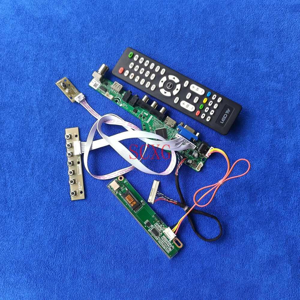 ل N141C1/N141C2/N141C3 LCD مصفوفة تحكم مجلس التناظرية إشارة LVDS 30 دبوس لتقوم بها بنفسك عدة 1CCFL HDMI-متوافق VGA AV USB 1440*900