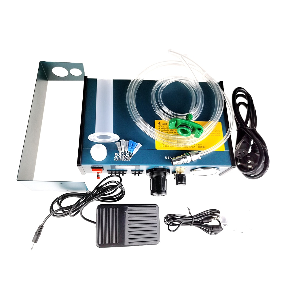 ydl 983a professional precise digital auto glue dispenser solder paste liquid controller dropper 220v drop shipping Digital display Auto Glue Dispenser Solder Paste Liquid Controller Fluid Dropper YDL-983A 983A Professional Precise