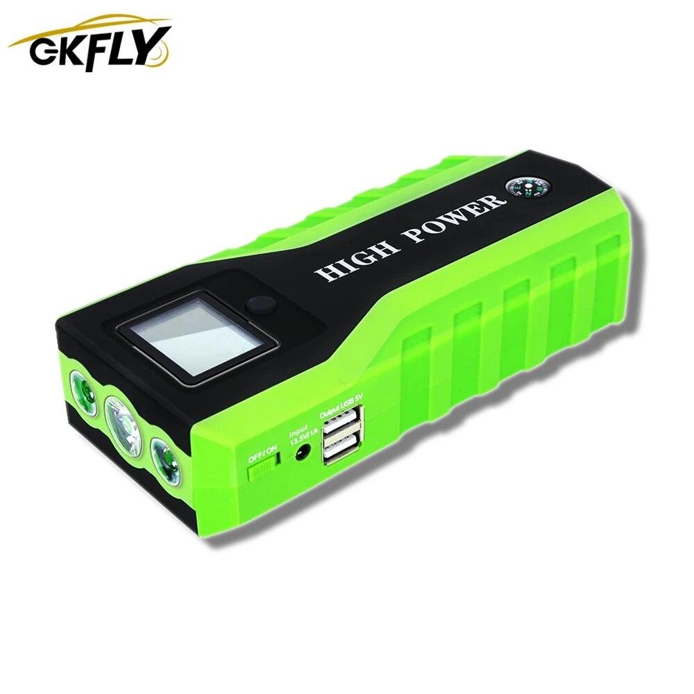 GKFLY 1000A جهاز بدء كابل 20000mAh 12 فولت سيارة الانتقال كاتب بنك الطاقة البنزين الديزل بطارية السيارة الداعم شاحن مصباح ليد