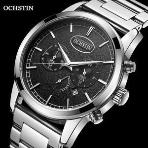 OCHSTIN 2021 Top Brand Luxury Fashion Business Men's Quartz Watches Multi-function Alloy Calendar Waterproof Chronograph Watches