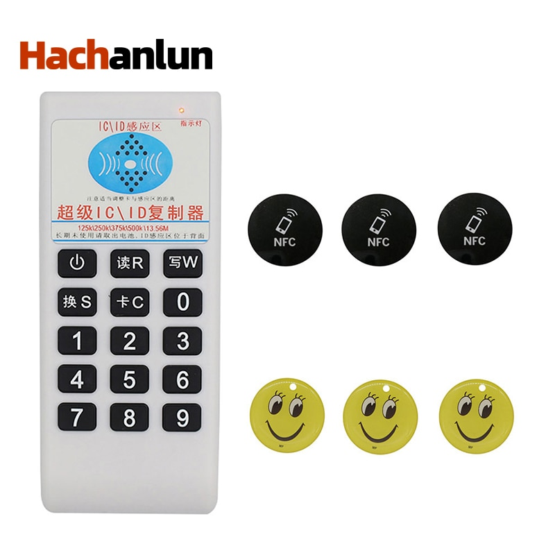 Handheld Frequency 125Khz-13.56MHZ Copier Duplicator Cloner RFID NFC IC Card Reader & Writer Access Control Card Tag Duplicator