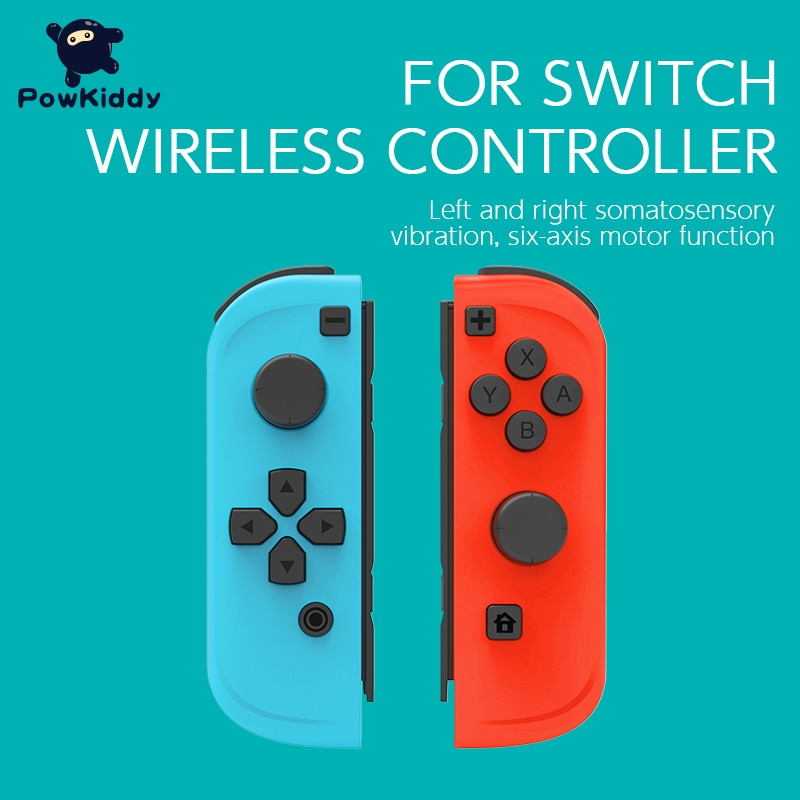 POWKIDDY 2pcs/Set Game Controller Handle For Switch Host Joy Gamepad Console Joy Dpad Gamepad Video
