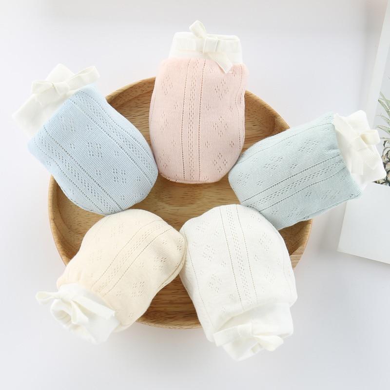 1 пара, хлопковые детские перчатки с защитой от царапин, 10*8 см, От 0 до 2 лет, детские варежки, перчатки для новорожденных, перчатки для защиты л...