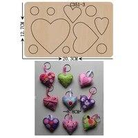 new love heart pendant wooden die scrapbooking c 351 3 cutting dies