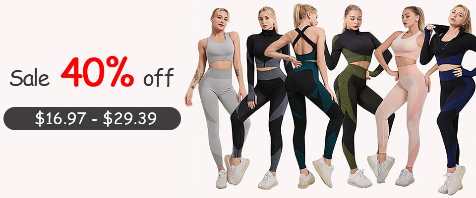 7 Colors GYMS Seamless Yoga Set Fitness Sport Suits Gym Set Clothing 2 Piece Outfits Shirts High Waist Running Leggings Pants