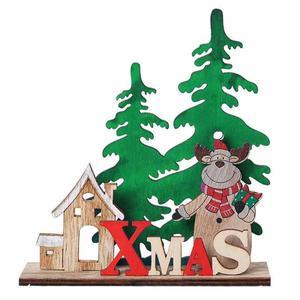 1pc Christmas Santa Table Decoration Elk Snowman Table Centerpiece Tabletop Decor Party Supplies Photography Props
