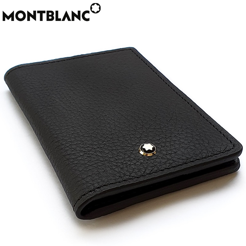 Wallet genuine leather luxury high quality money card holder pocket purse for Mont Blanc