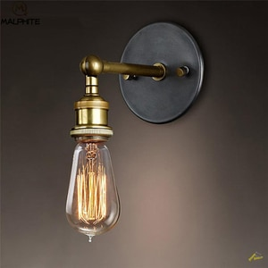 American Retro Sconce Wall Lamps Vintage Loft Lights E27 Bulb Plated Iron Retro Industrial Home deco Lighting fixtures luminaria