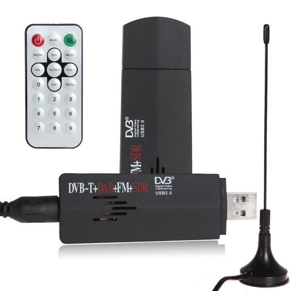 ROHS Digital USB 2,0 TV Stick + FM + DAB DVB-T RTL2832U + R820T apoyo SDR sintonizador receptor