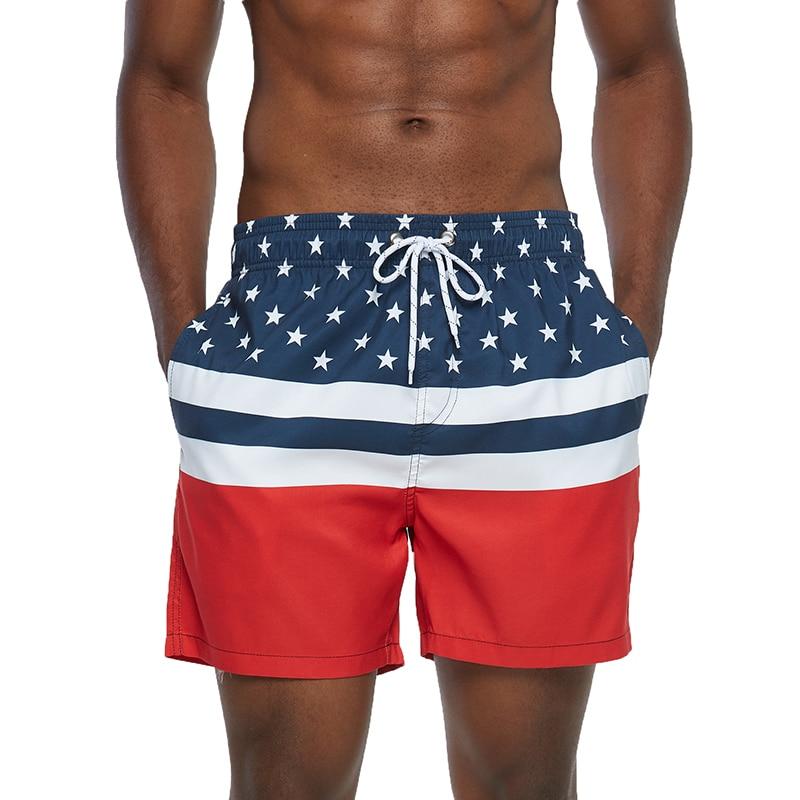 Мужские спортивные короткие пляжные шорты-бермуды, пляжные шорты для серфинга, плавки, купальные костюмы, купальники