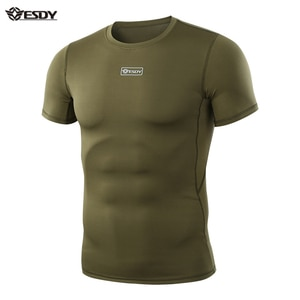 ESDY Summer T-shirt Outdoor Camouflage T-shirt Men Breathable Army Tactical Combat Shirt Military Quick Dry Sport Camp Tees