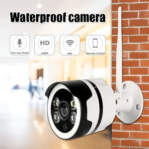 Outdoor Security Camera Home Surveillance Camera  Waterproof WiFi Camera with Face Sound Motion Detection Night Vision P