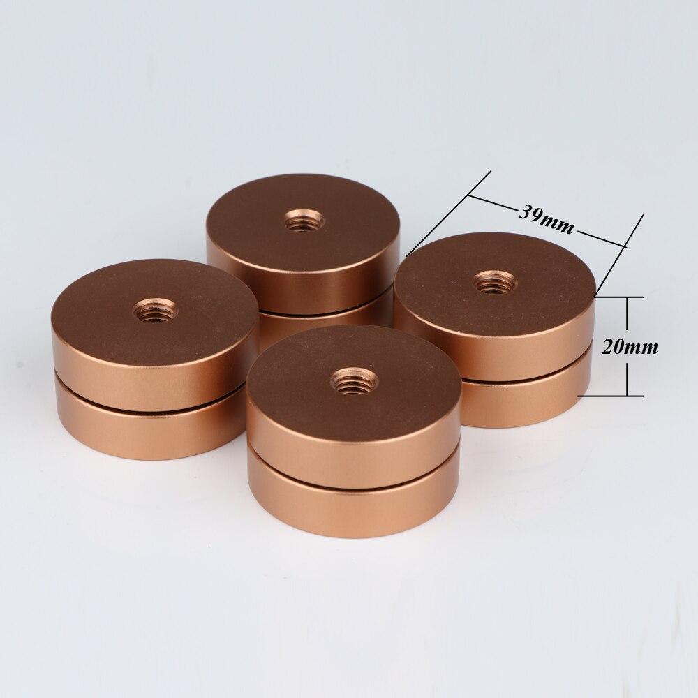 4 قطعة مرحبا نهاية الألومنيوم خزانة مكبر صوت العزلة قدم DAC CD القرص الدوار أمبير سادة الطابق حامل قاعدة