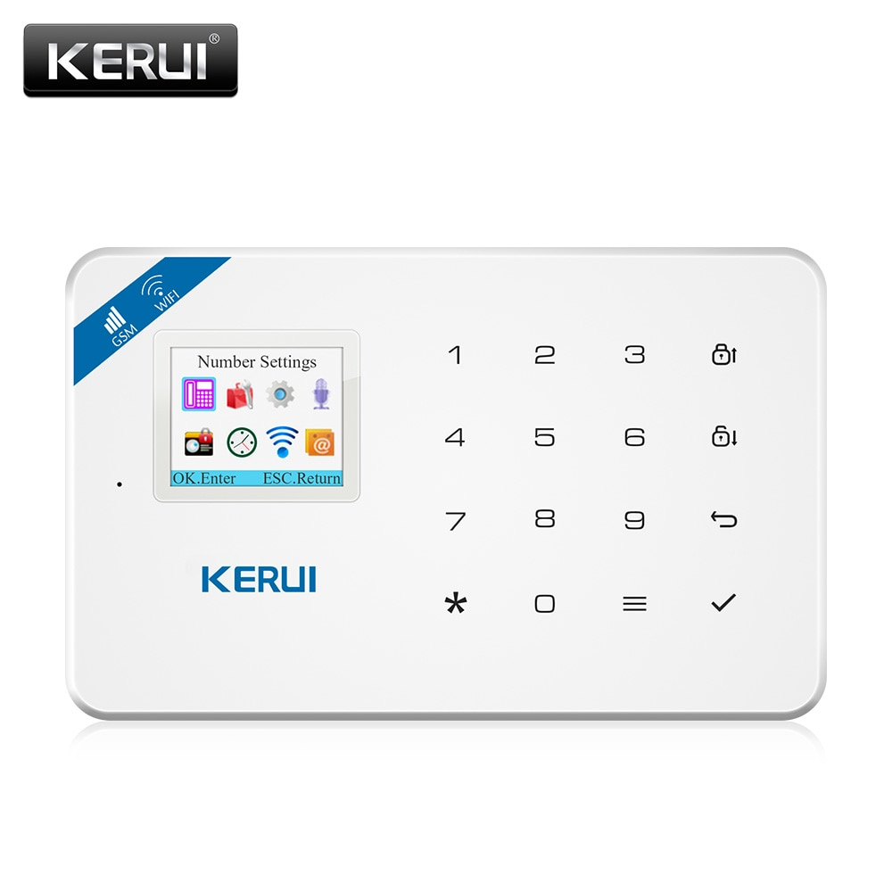KERUI W18 WIFI GSM Dual Alarm System Russian Spanish French Home Security Buglar Alarm System Motion Detection Solar Siren Kit enlarge