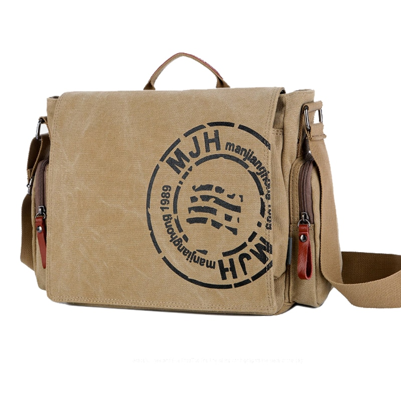 2021 Vintage Canvas Shoulder Bag Men Fashion Multi Colors Messenger Bag Casual Canvas Men's Crossbody Bags Designer Bags