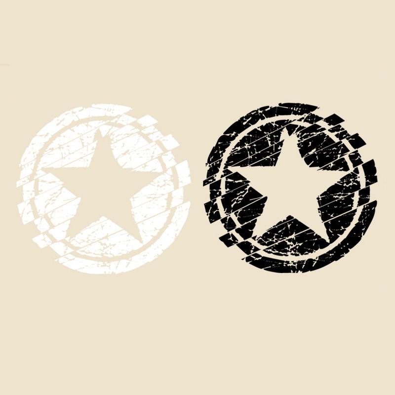 Schwarz Weiß Farbe Stern Patches Heißer Wärme Transfer Tuch Druck Aufkleber DIY Eisen Auf Kleidung Tasche Schuhe Benutzerdefinierte Marke Logo