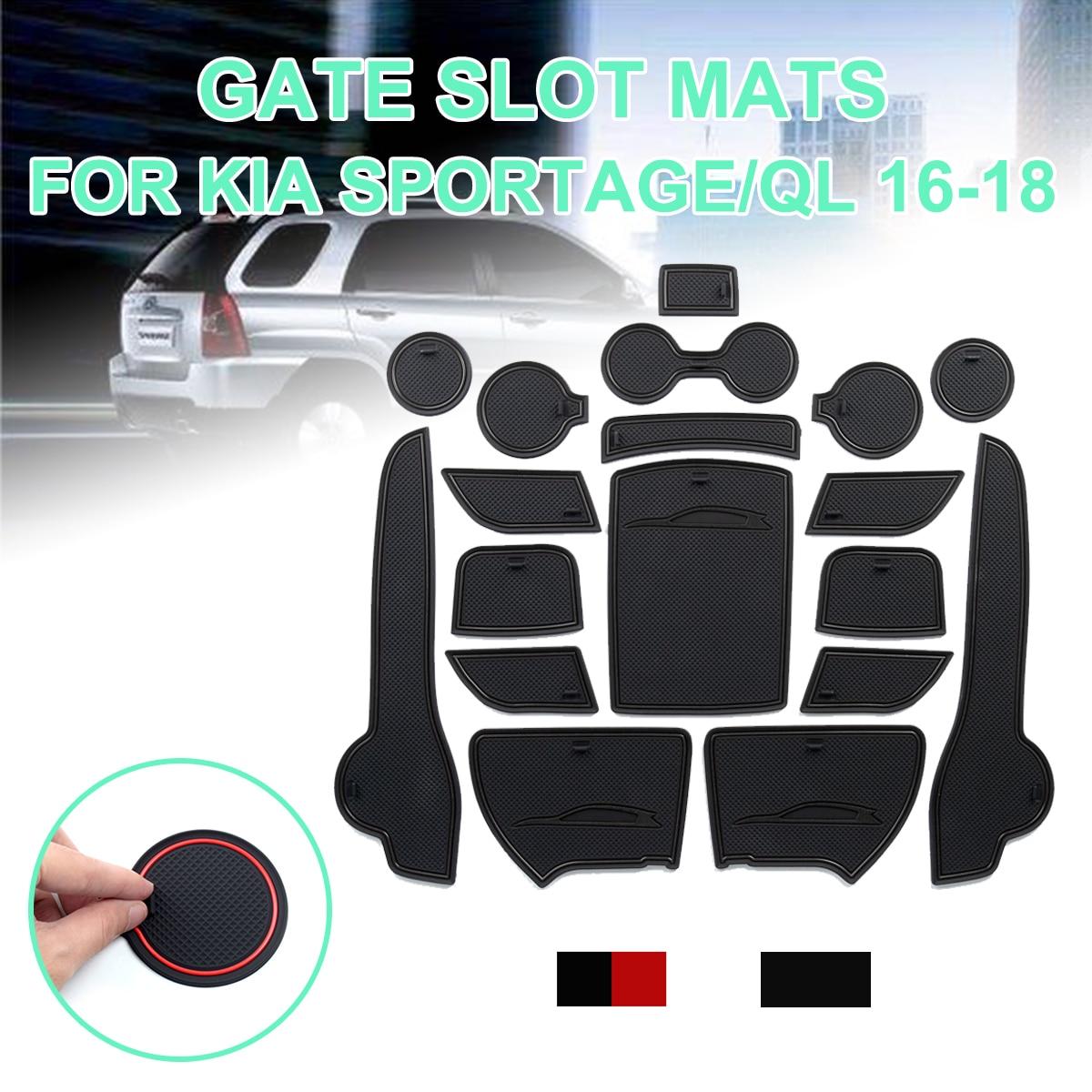 Para KIA Sportage 2016 2017 2018 2019 QL 4th Gen MK4 KX5 antideslizante de goma ranura para puerta tapete tapetes accesorios pegatinas para coche
