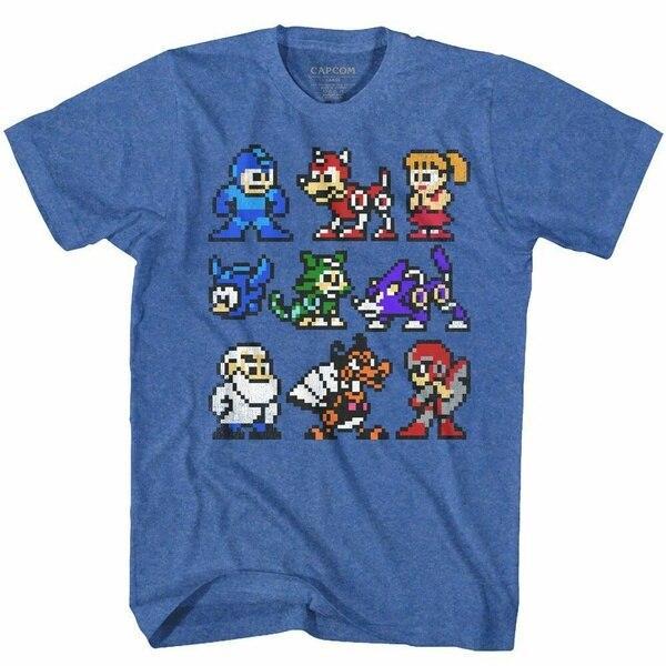Mega Man-Camiseta para adultos, camisa Clásica Americana