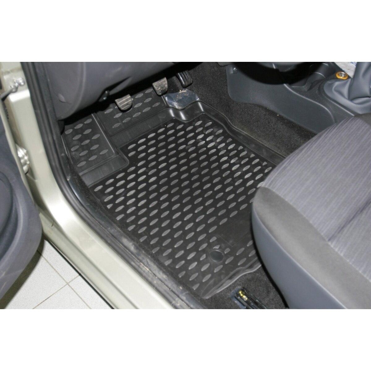 3D alfombras en el salón Renault Logan 2004-2009-2010-2014 4 Uds (PU) renault Logan)