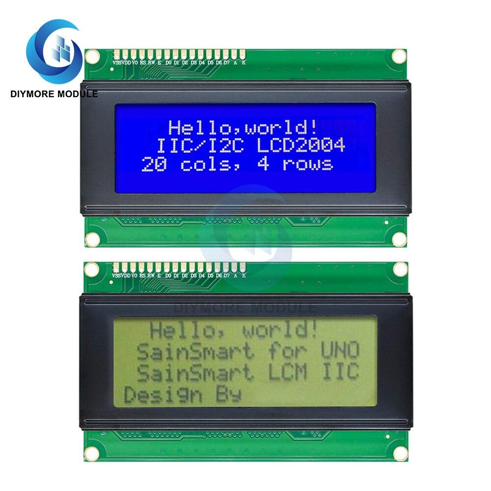 Модуль дисплея LCD2004, синий/зеленый монитор, 20 х4 символа, 5 В, для Arduino UNO R3 MEGA2560, электронный комплект «сделай сам»