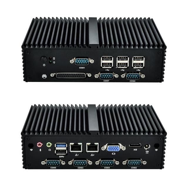 Free shipping Quad Core N2920 7 RS232 industrial mini computer,LPT fanless Mini PC 4