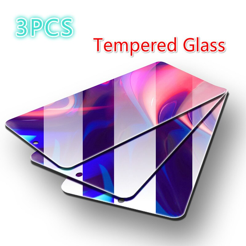 3PCS מזג זכוכית עבור Huawei Honor 10 20 לייט 8x 20i 10i מסך מגן זכוכית לכבוד 20 8c 8a 7a 7c פרו מגן זכוכית
