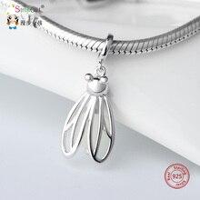 StrollGirl 925 Sterling Silver Firefly glowing animal Charms Fit pandora Bracelet DIY beads fashion pendant Jewelry women gift