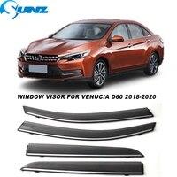 side window visors for venucia d60 2018 2019 2020 smoke weathershields sun rain deflectors car stylings sunz