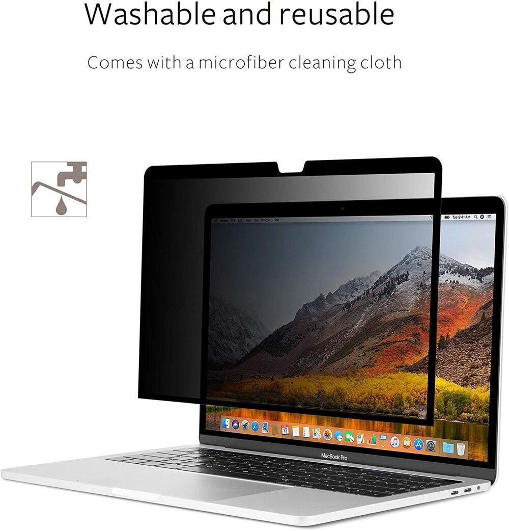 واقي شاشة بفلتر الخصوصية ، سهل التركيب ، لجهاز MacBook Pro 2016 2017 2018 2019 ، 13.3 بوصة ، مع شريط اللمس