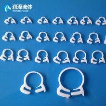 Attaches de Tube de serrage en plastique   Réglables, clips serrés, matériel POM blanc lait de haute qualité, approvisionnement en usine, Support OEM