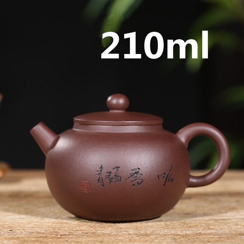 Tetera, Tetera China, Tetera Yixing Zisha, Tetera hecha a mano, Tetera Gongfu, Set de cerámica 210ml, nuevo diseño, fabricante maestro, Embalaje seguro