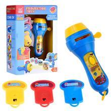 Kids Animal Pattern Projector Flashlight Torch Toy Preschool Toys Sleeping Story Education Gift