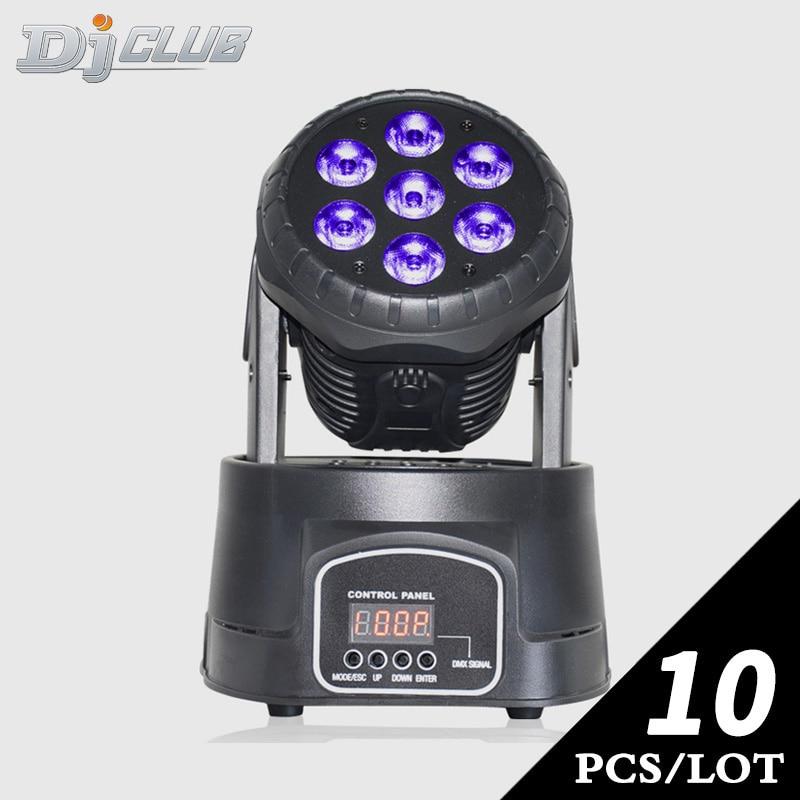 Cabezal móvil dmx lavado led 7x12 w rgbw 4in1 por 14 canales para iluminación de escenario DJ