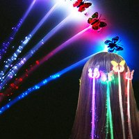New Hot Invitations Clip Light-up Flashing Barrette Fiber Optic Hair Assorted Led Headwear For Party Girl Dress Kid's Gift