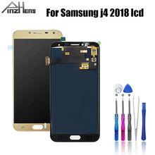 Pinzheng aaaa qualidade lcd para samsung galaxy j4 2018 j400 j400f j400f/ds display lcd de toque digitador da tela montagem