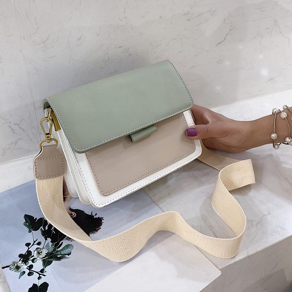 Bolso de mano de mujer Mini bolso de mujer moda femenina bolso de hombro de Color bolsos de mensajero de mujer de cuero de PU bolso bandolera
