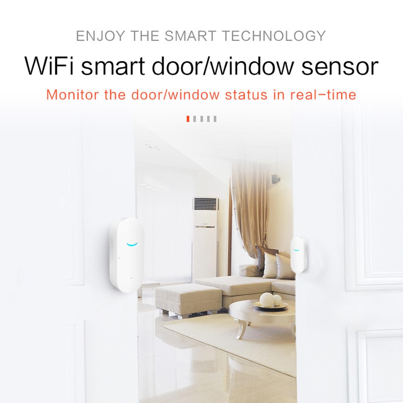 Tuya Smart WiFi Door Sensor Door Open   Closed Detectors WiFi App Notification Alert security alarm support Alexa Google Home