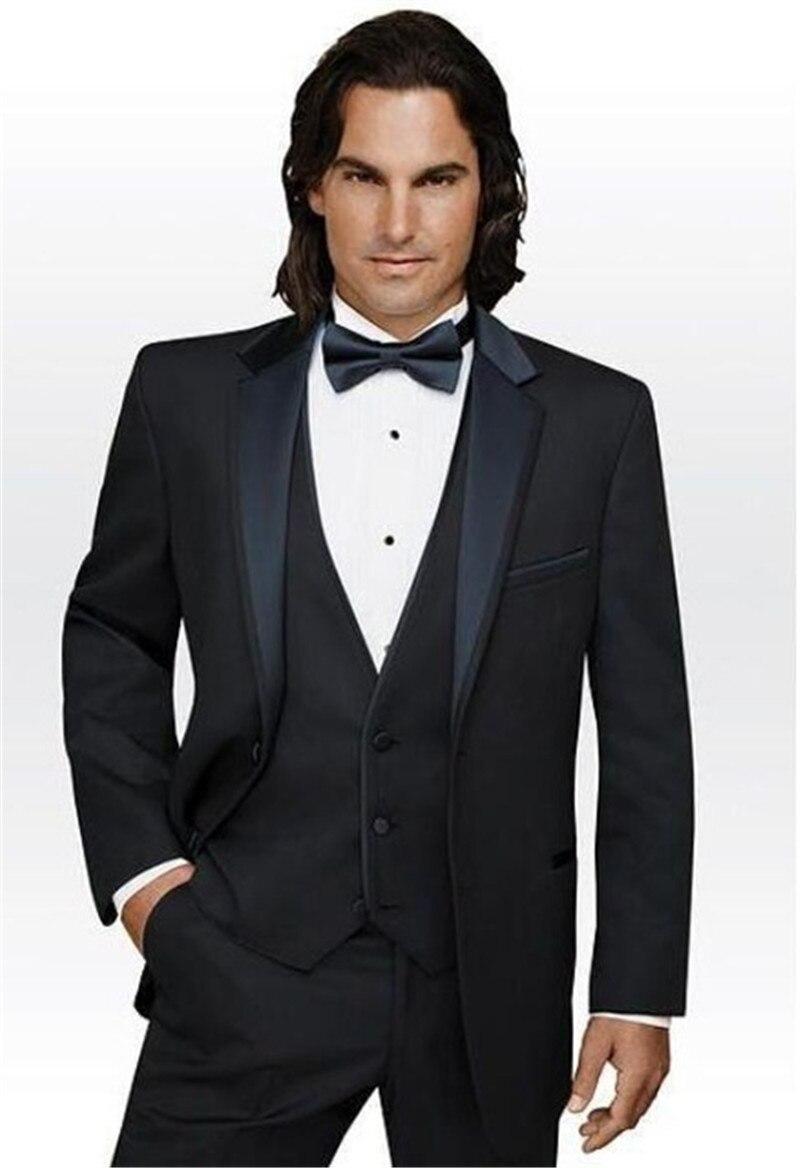 Offre spéciale marié hommes mariage Tuxedos mince avec gilet affaires Banquet fête robe formelle costumes personnalisés (veste + pantalon + gilet)