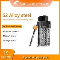 10pcs 65mm110mm screwdriver bit set phillips double head magnetic bits 14 hex shank s2 alloy steel for electric screw drive