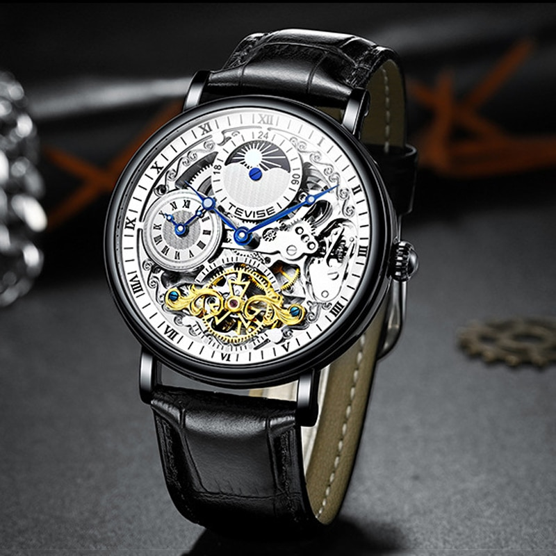 Tourbillon Fashion Luminous Men Watches Top Brand Luxury Waterproof 30M Mechanical Skeleton Clock Du