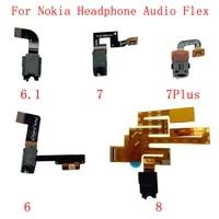 earphone headphone audio jack flex cable for nokia 6 7 8 6 1 7plus headphone audio replacement parts