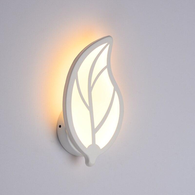 220V 18W 36LED hoja de mariposa luz de pared sala de estar pasillo cabecera lámparas de pared hogar escaleras dormitorio cabecera Baño Luz
