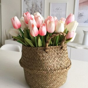 5/10Pcs Tulips Artificial Flower PU Real Touch Tulip Bouquet Fake Flower for Home Gift Wedding Decorative Flowers 21 Color Avail