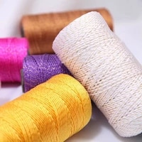 3pcs bright silk twisted string handmade crochet diy hat crochet shoes cushion doll line medium thickness wool